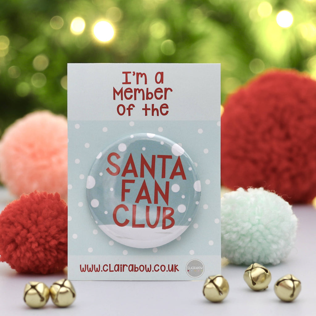 Santa Fan Club Christmas Badge