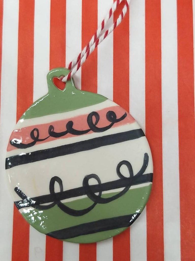 Ceramic Christmas Tree Decoration - Hand Painted