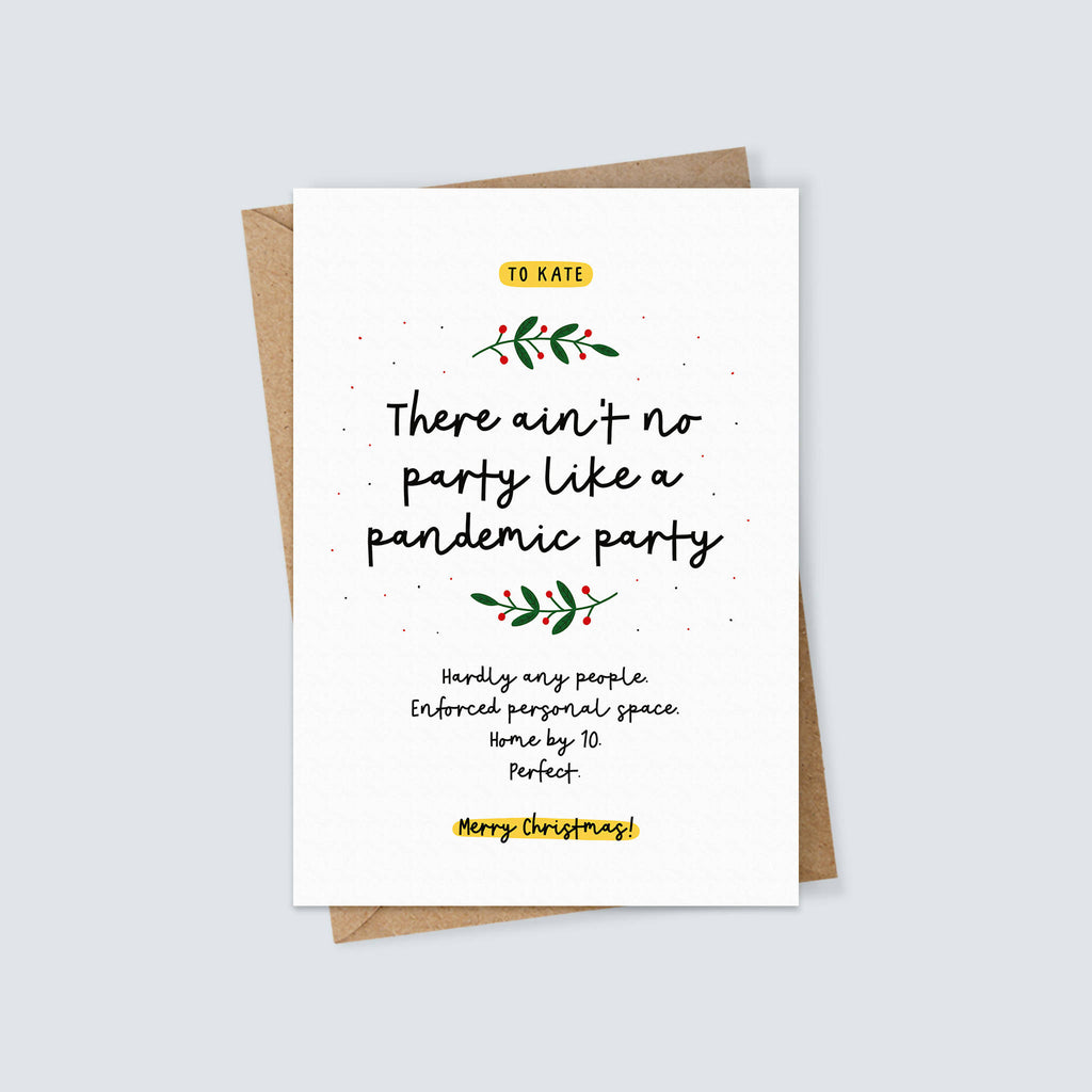 Pandemic Party Christmas Card