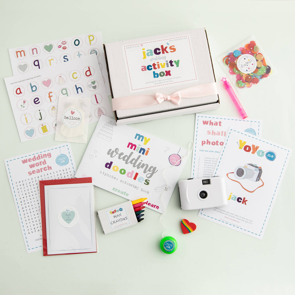 Personalised Wedding Activity Box For Children