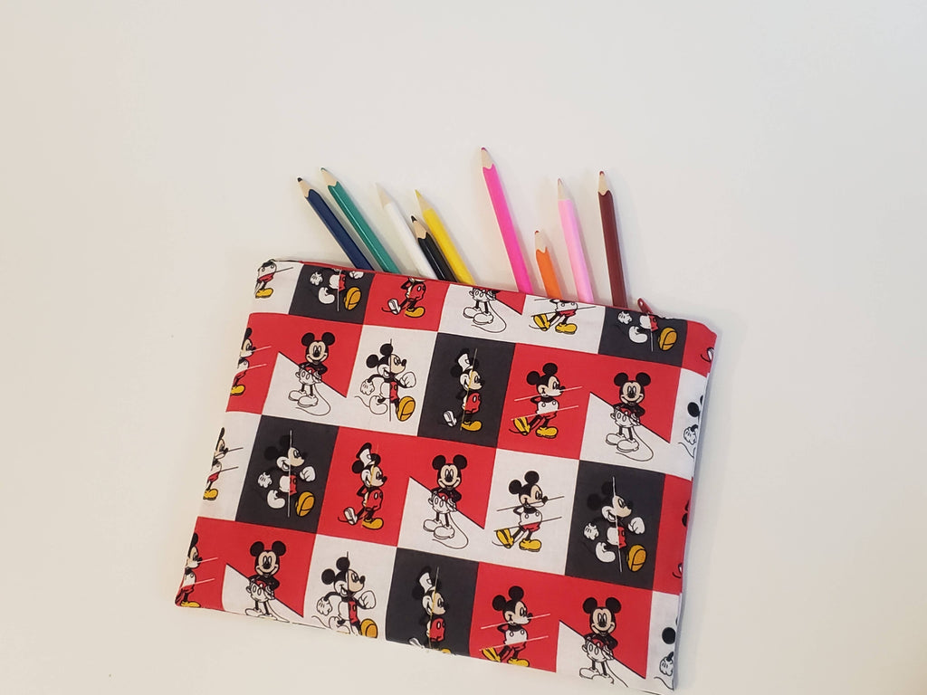 Flat Zipper Pouch - Mickey Mouse