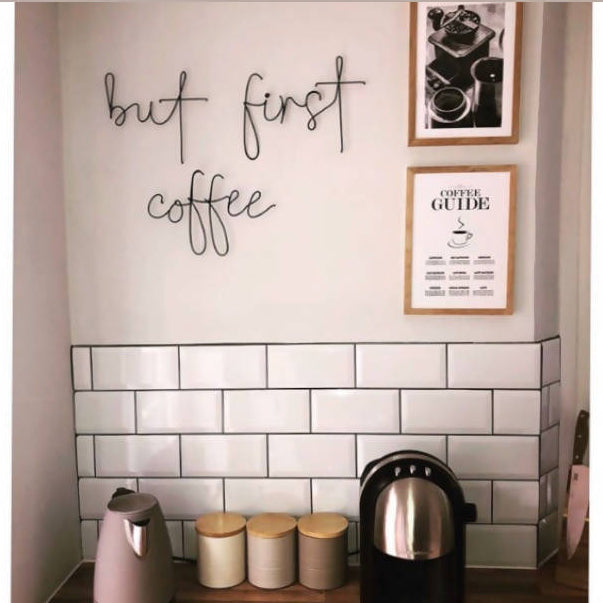 but first, coffee... Wired Mama Wall Art