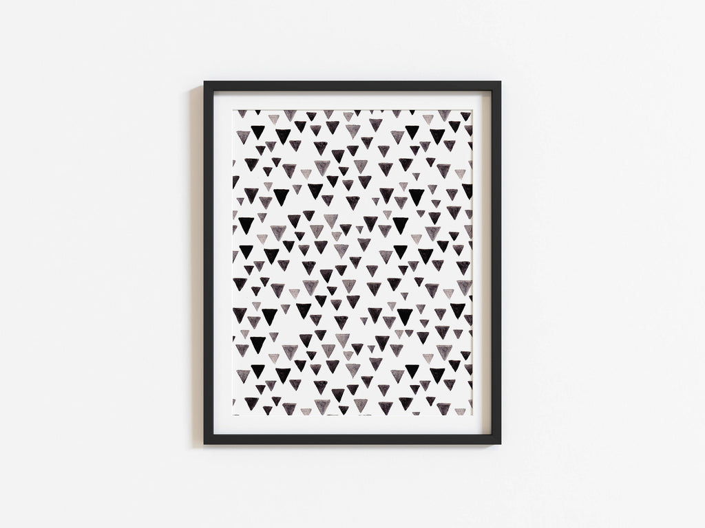 Patterned Brush Stroke Wall Art A4, A5 Print, Black and White, Room decor, Illustrated Print