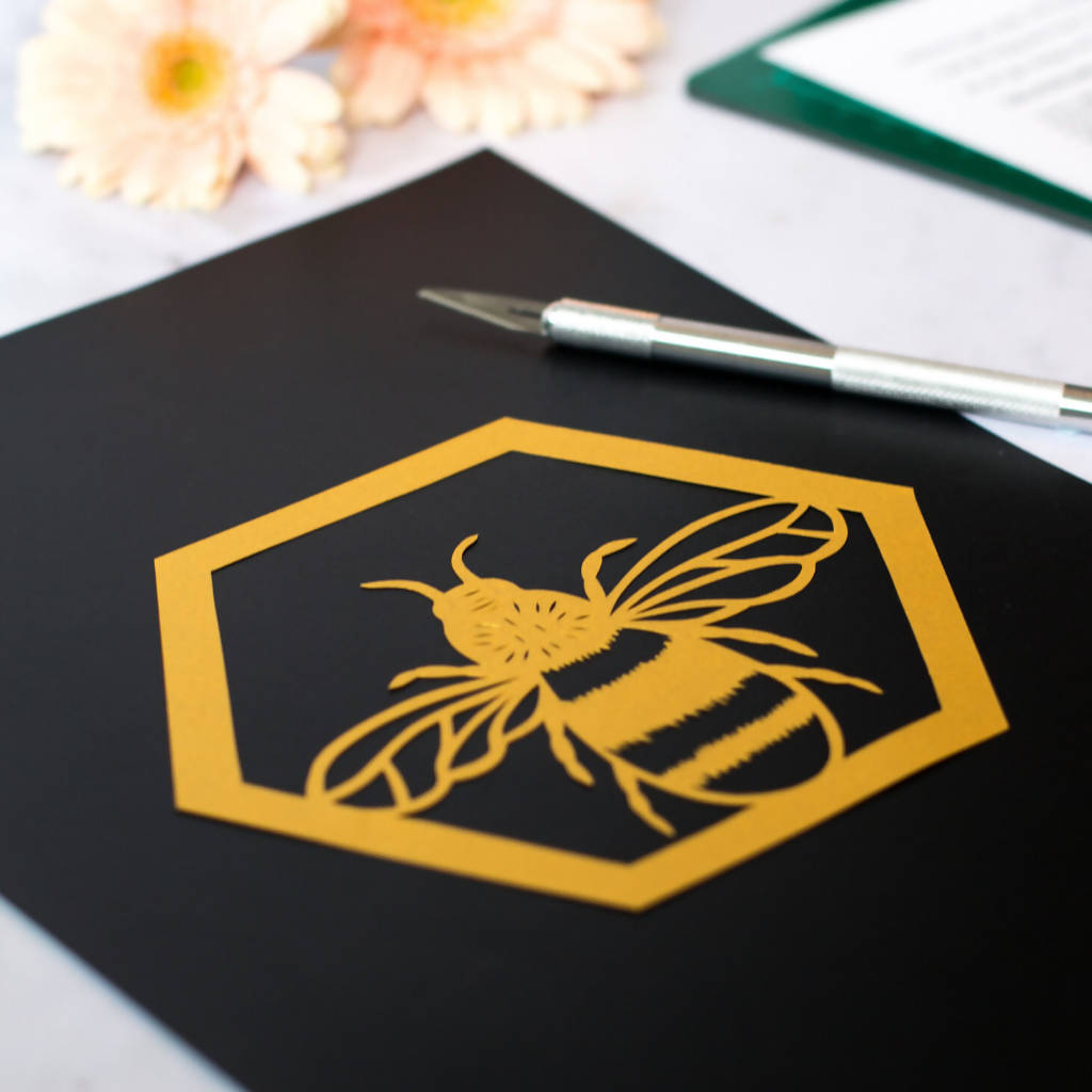 Bee Paper Cutting Project Kit