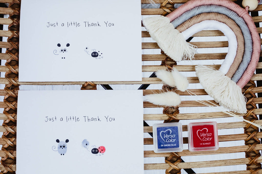 Just a Little Thank You. Fingerprint Card Kit
