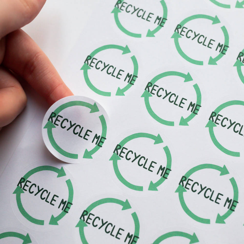 35x Eco Friendly Recycle Me Stickers