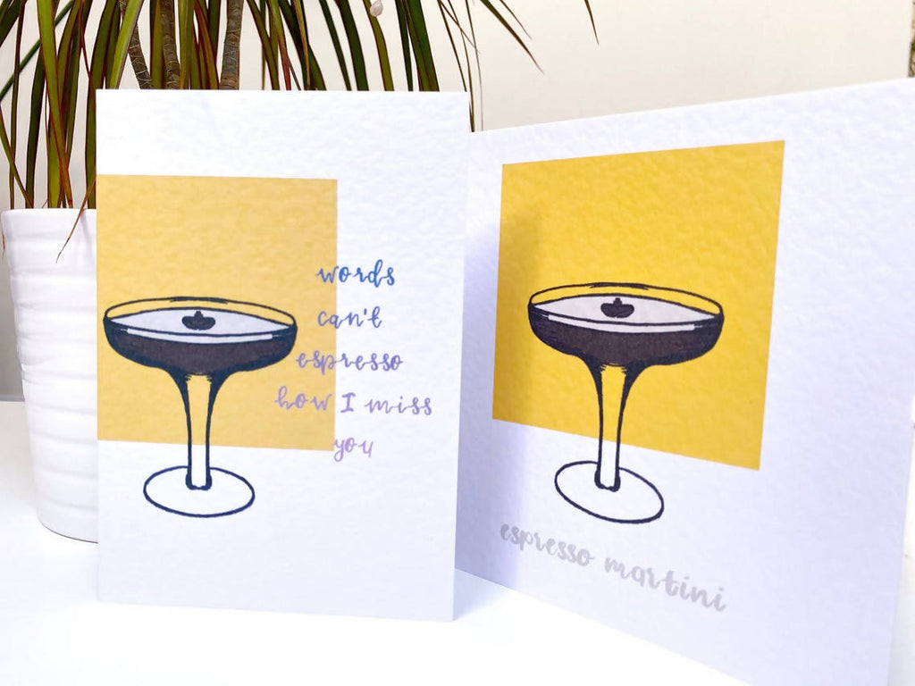 Espresso Martini Miss You, Funny Lockdown Card