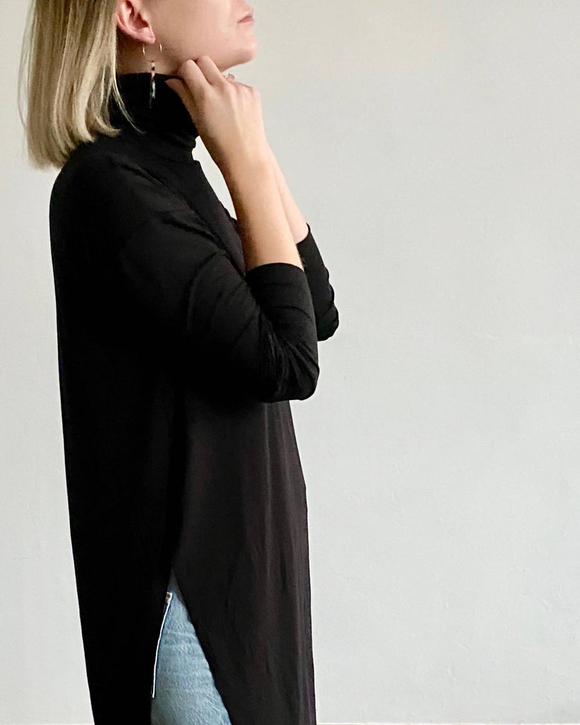 'Your not-so-basic basic' - Bamboo turtleneck top