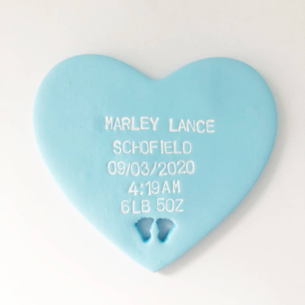 Personalised Christening heart gift