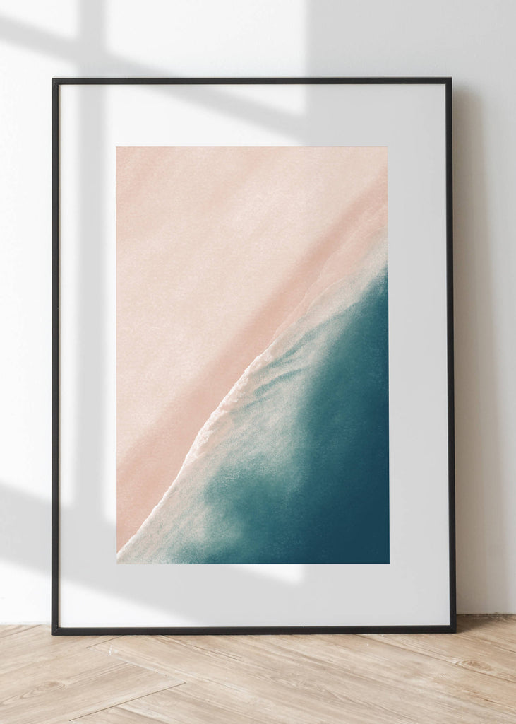 Hand Drawing Beach Art Print