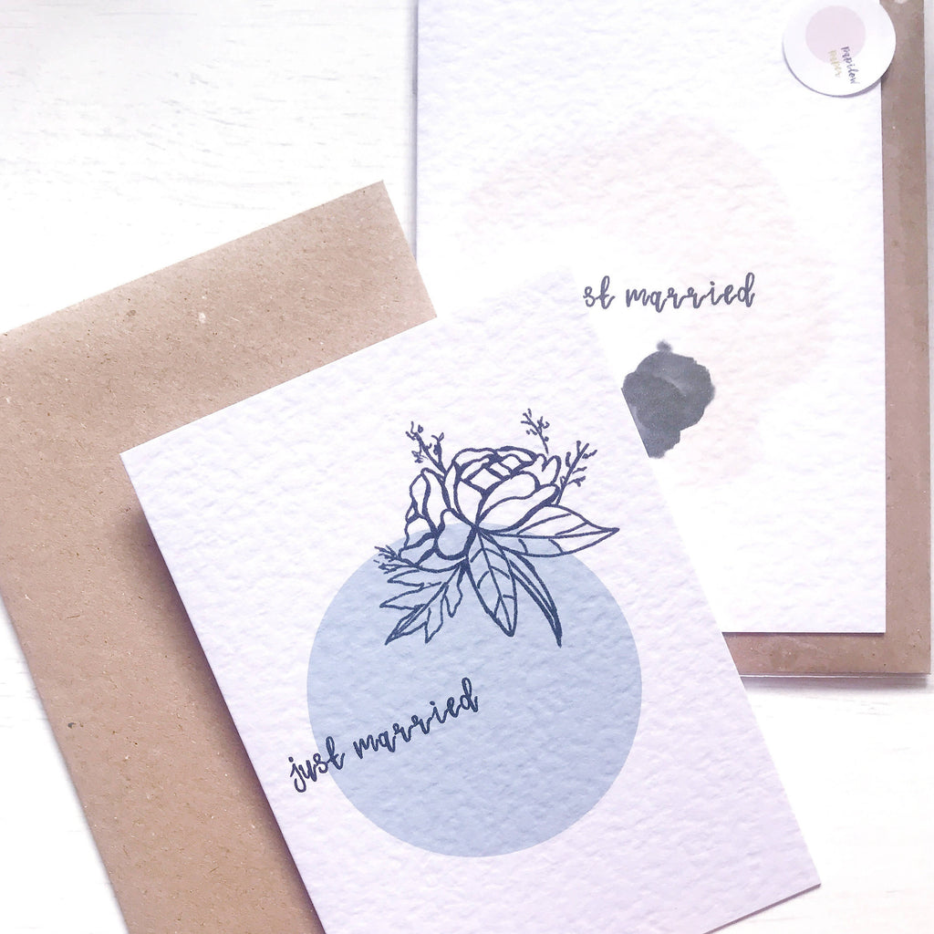 Just Married Illustrated Card