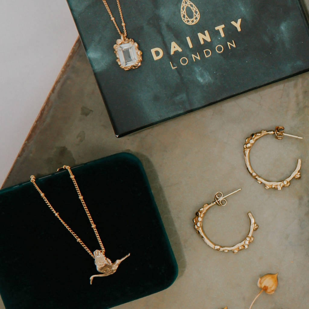 Gold 'Stork' Necklace for Mums
