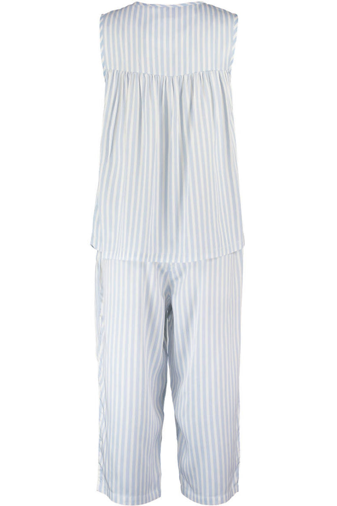 Simple Stripe Midi Sleepwear Set