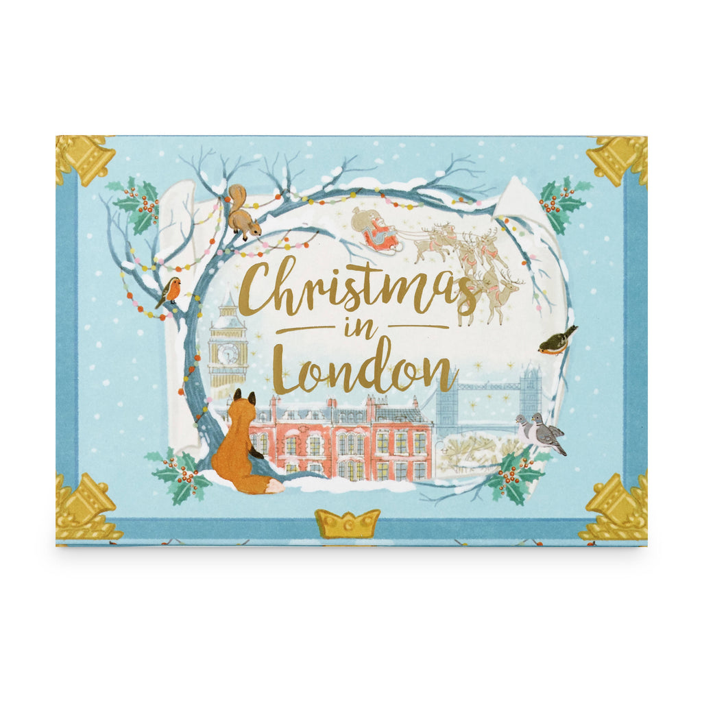 Christmas In London Music Box Card