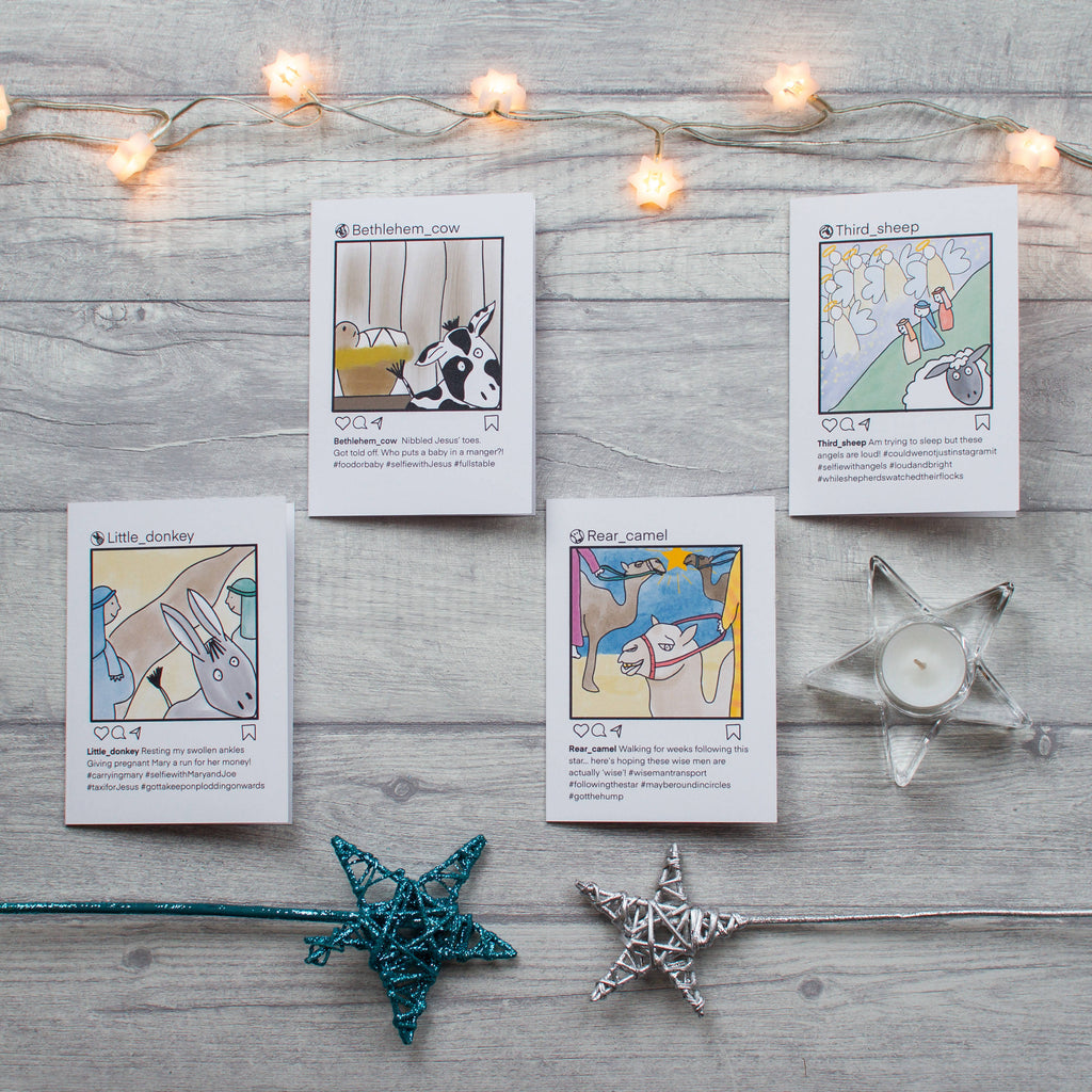 Selfie nativity card - 8 pack and 16 pack