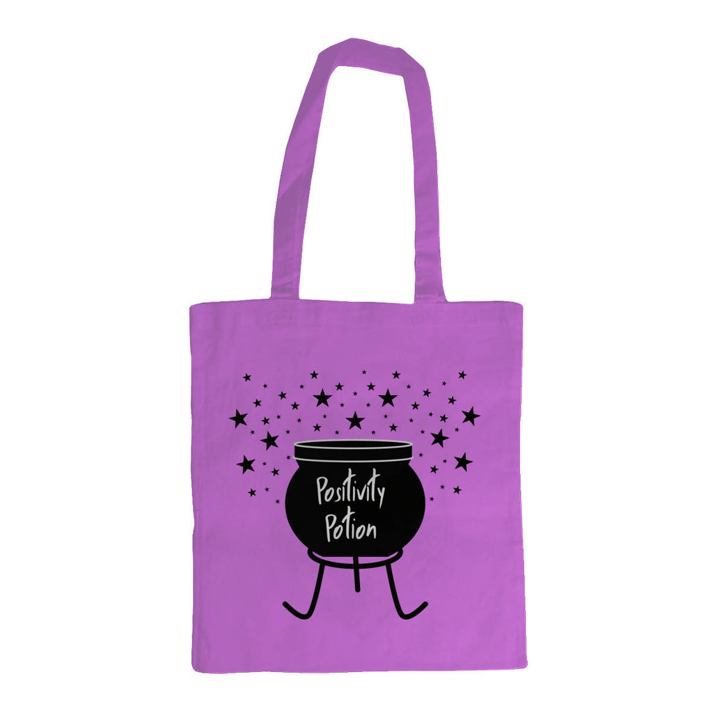Positivity Potion Cauldron Printed Tote Bag