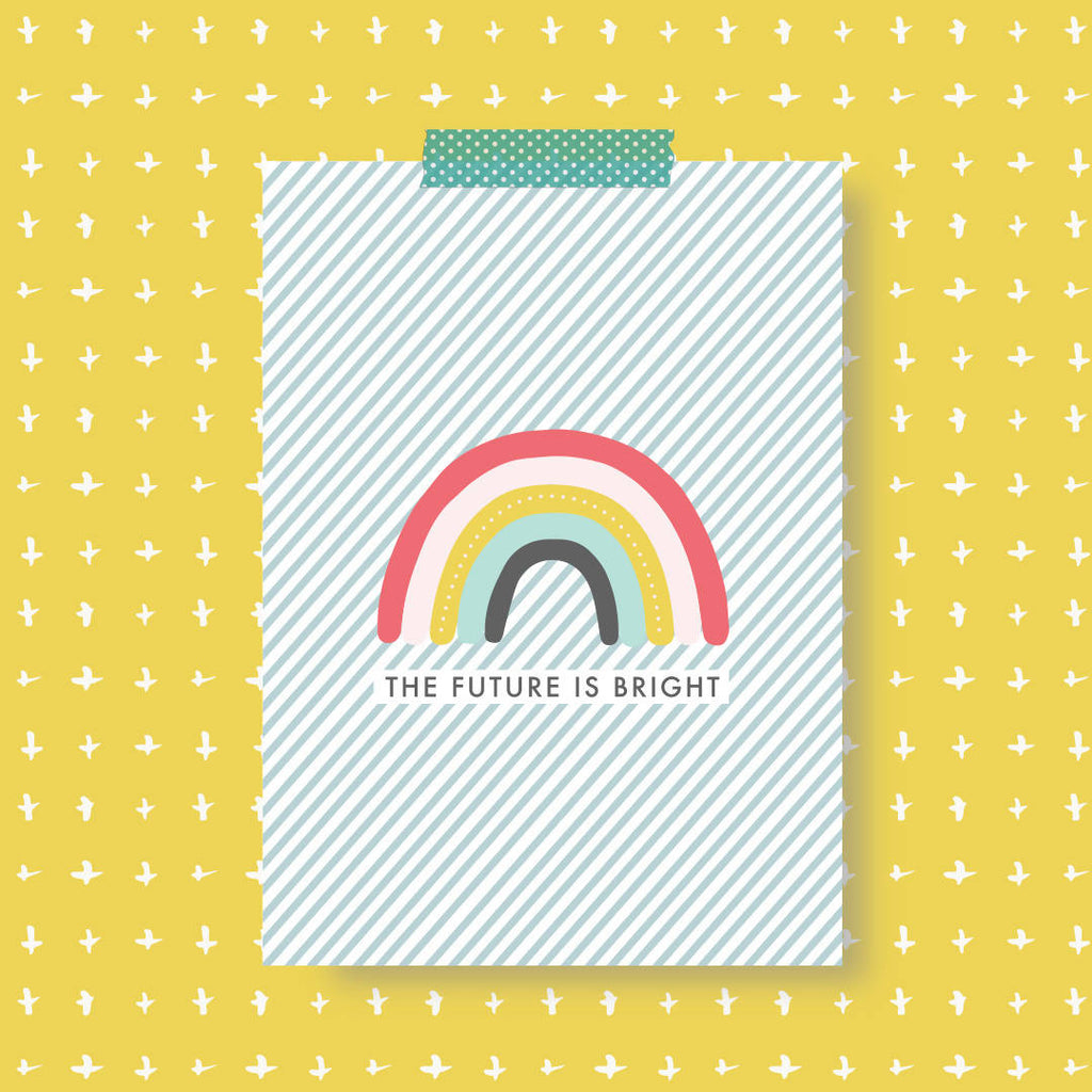 The Future Is Bright Print Postcard