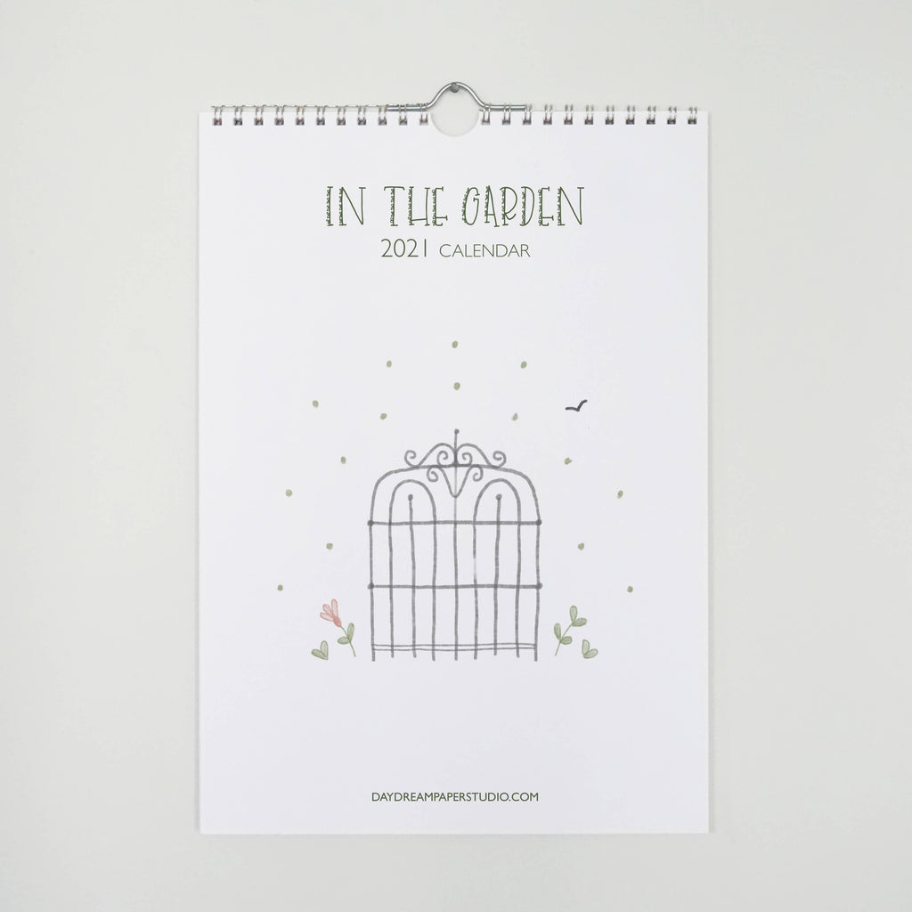 In the Garden, 2021 reference wall calendar