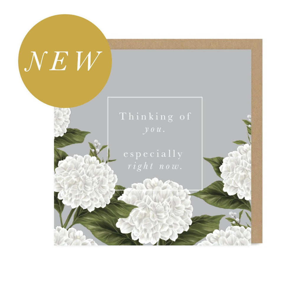 Thinking of you | Sympathy Card | Floral | Botanical | Metallic Gold | Foil | Greetings Card | Hand Finished | Hand Drawn | Amy Olivia Harris Designs