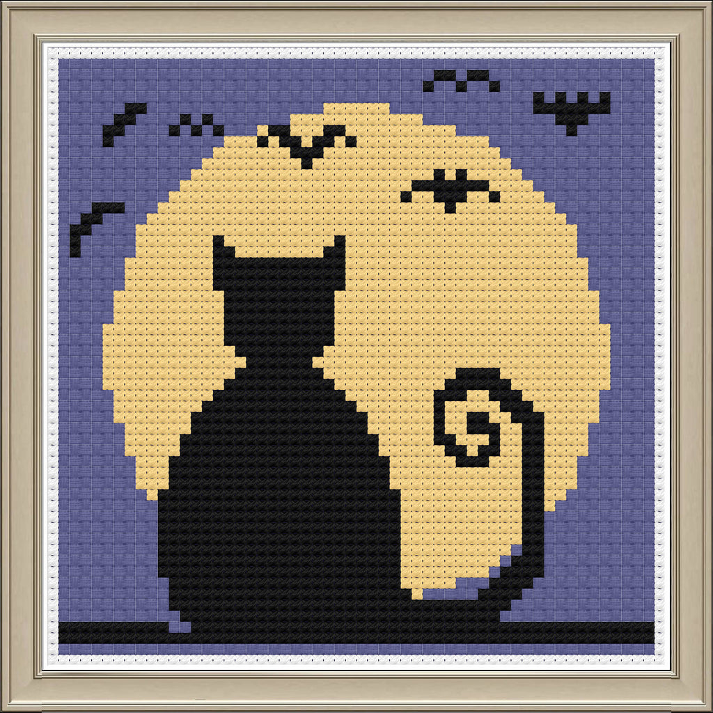 Bats & Cats Cross Stitch Kit