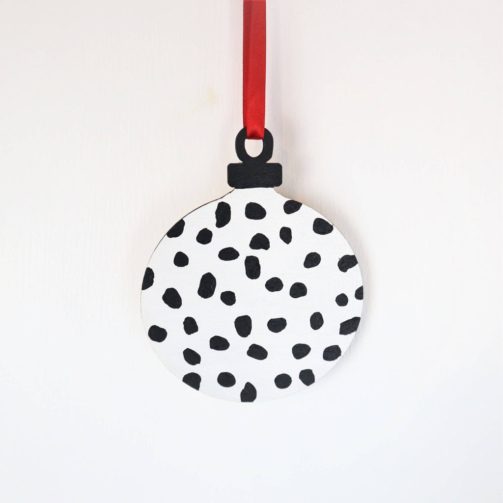 Personalised Dalmatian Spot Christmas Bauble