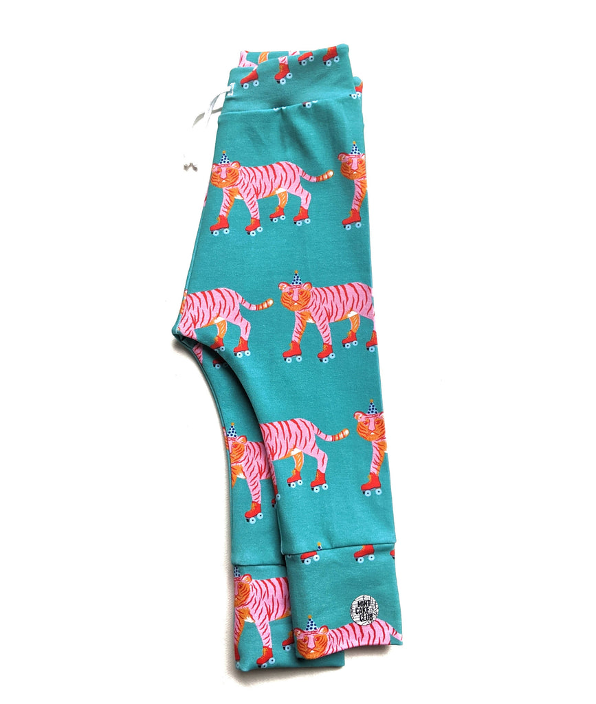 Teal Roller Tigers Leggings
