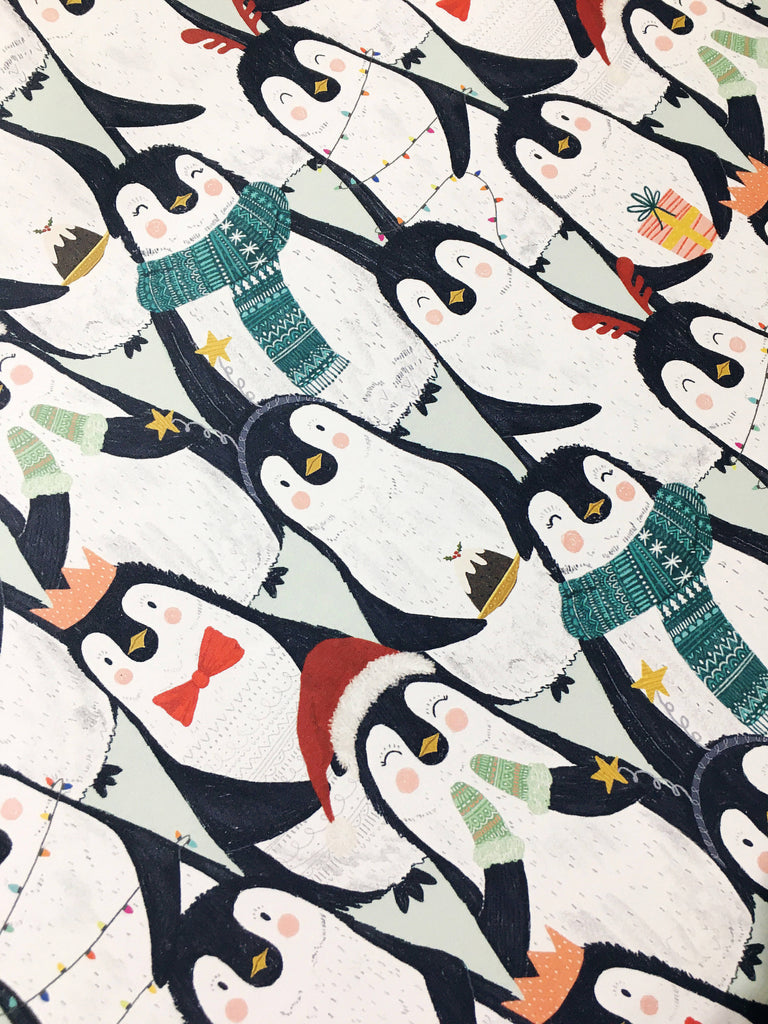 Penguin Christmas Recyclable Gift Wrap Pack