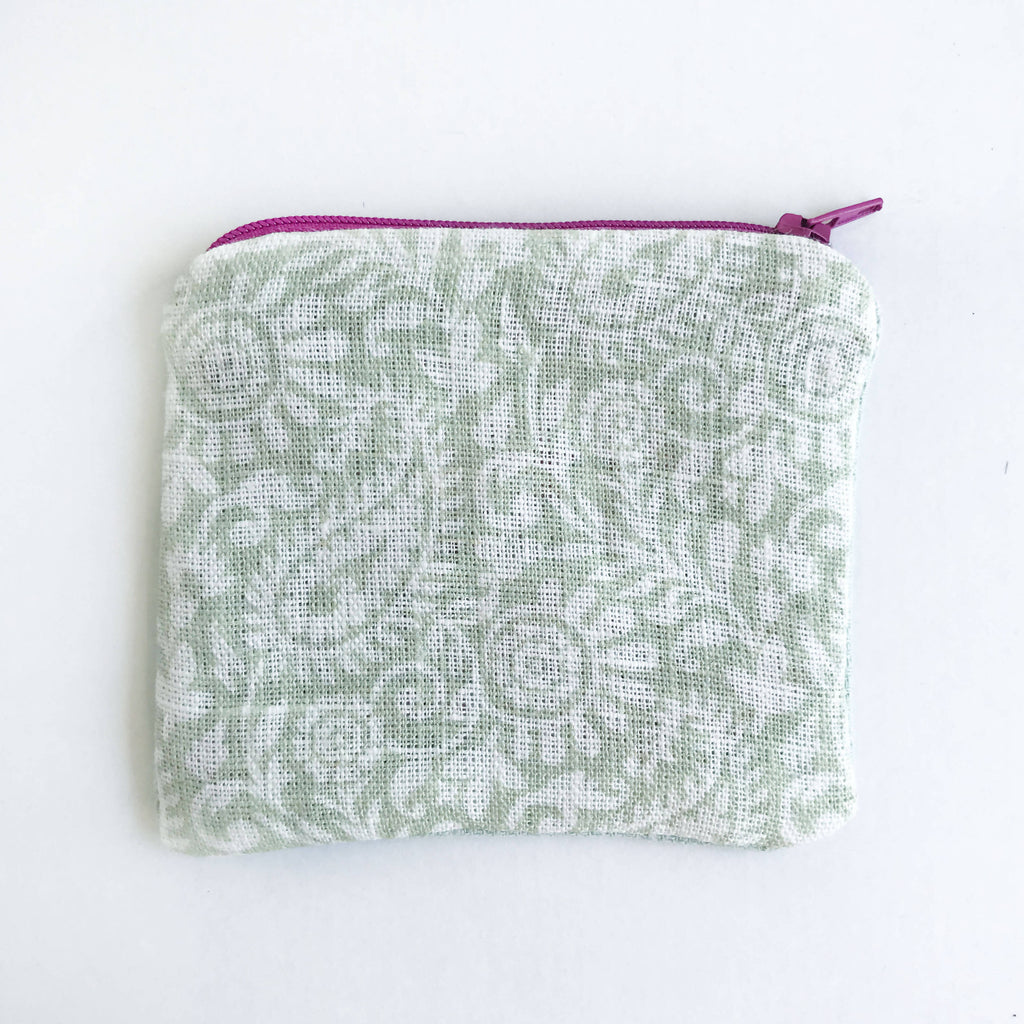 Duck Egg Embroidered Rhino Purse