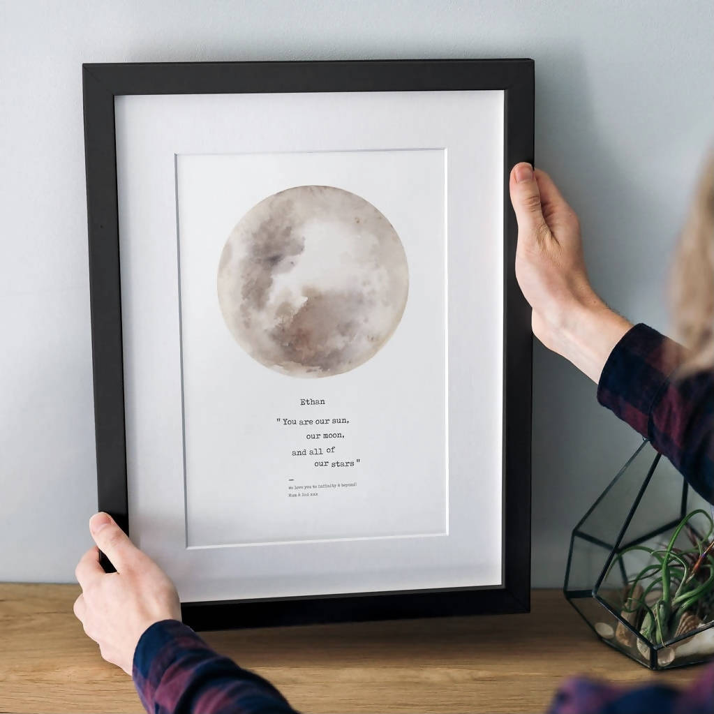 Personalised 'You Are My Sun, My Moon…' Moon Print
