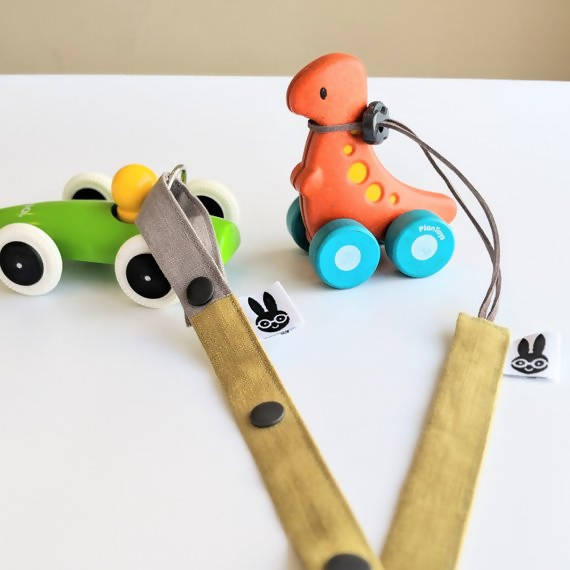 Washed linen toy strap - toy minder