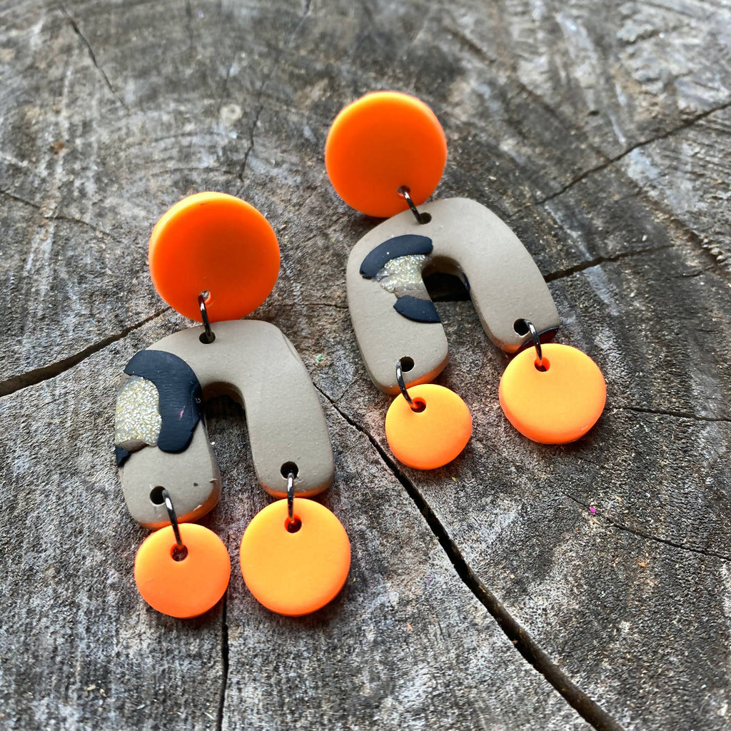 Neon Animal Earrings