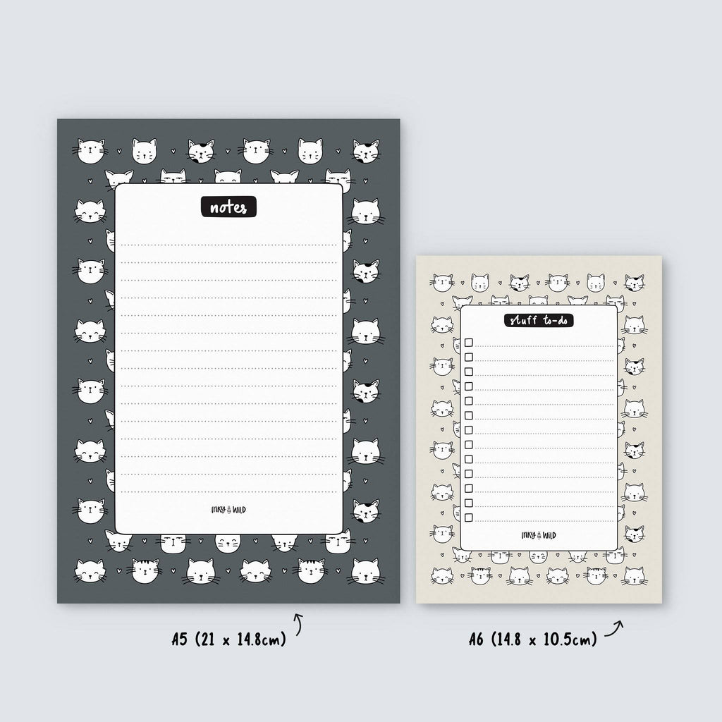 Cat Pattern Notepads