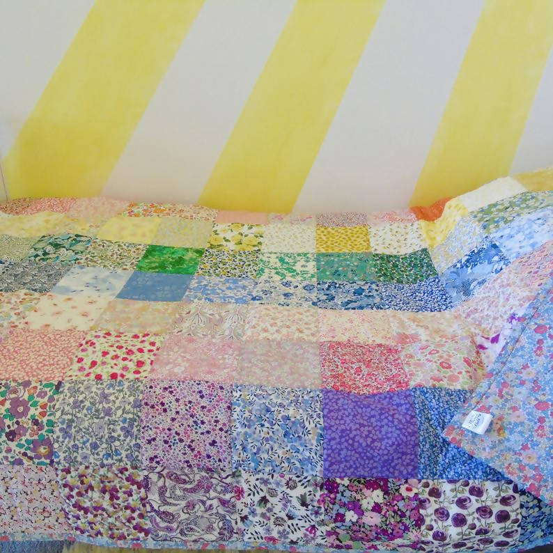 Rainbow Heirloom Quilt - Cotbed/Toddler/Throw
