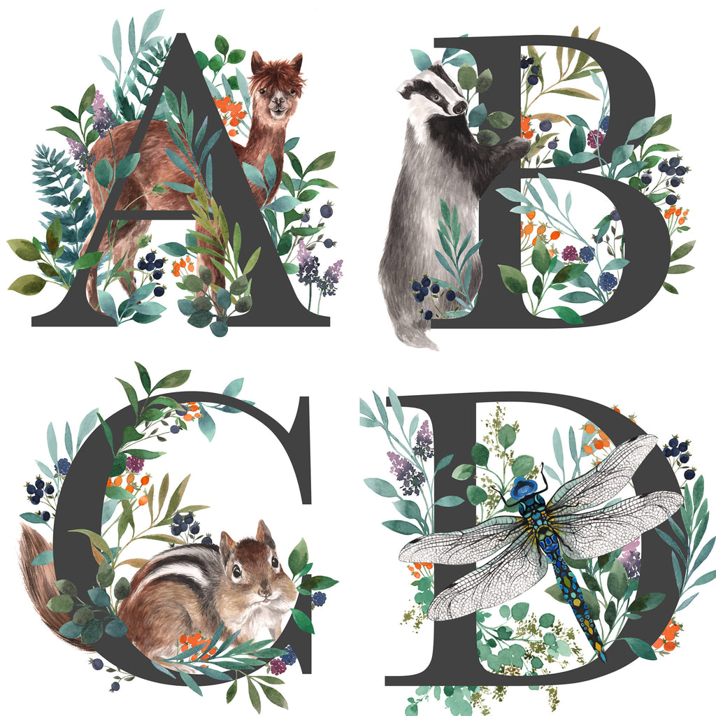 Alphabet Animal Fine Art Print