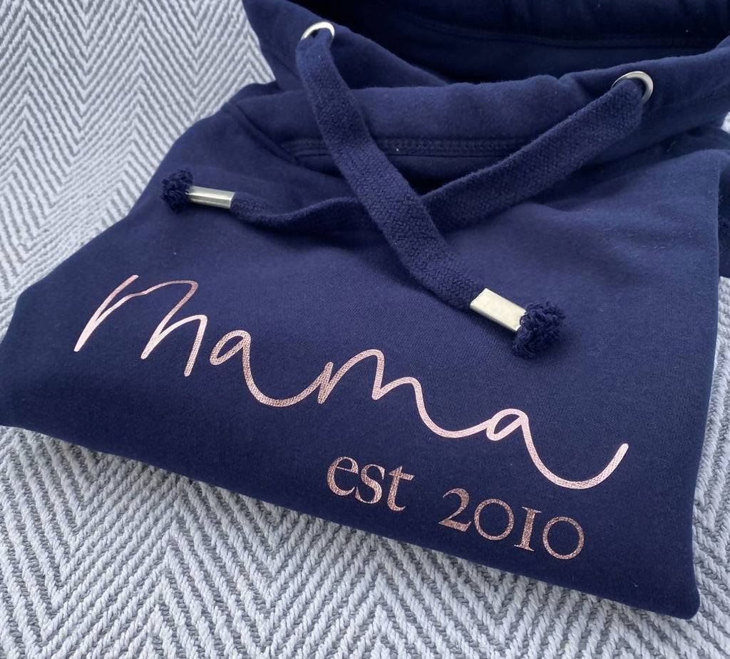 Mama Est... Cowl Neck Hoodie