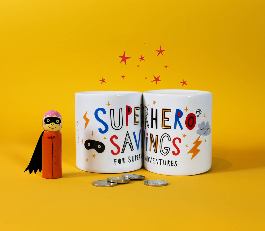 Ceramic Superhero Money Box