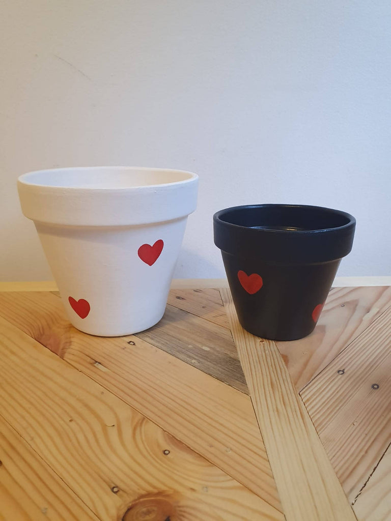 Black Heart Plant Pot