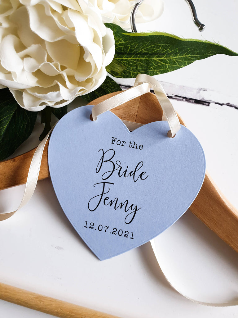 Bride Gift Set Lucky Sixpence and Something Blue Dress Hanger Tag. Bridal Shower, Hen Party, Engagement Gift. (Hanger Not Included)
