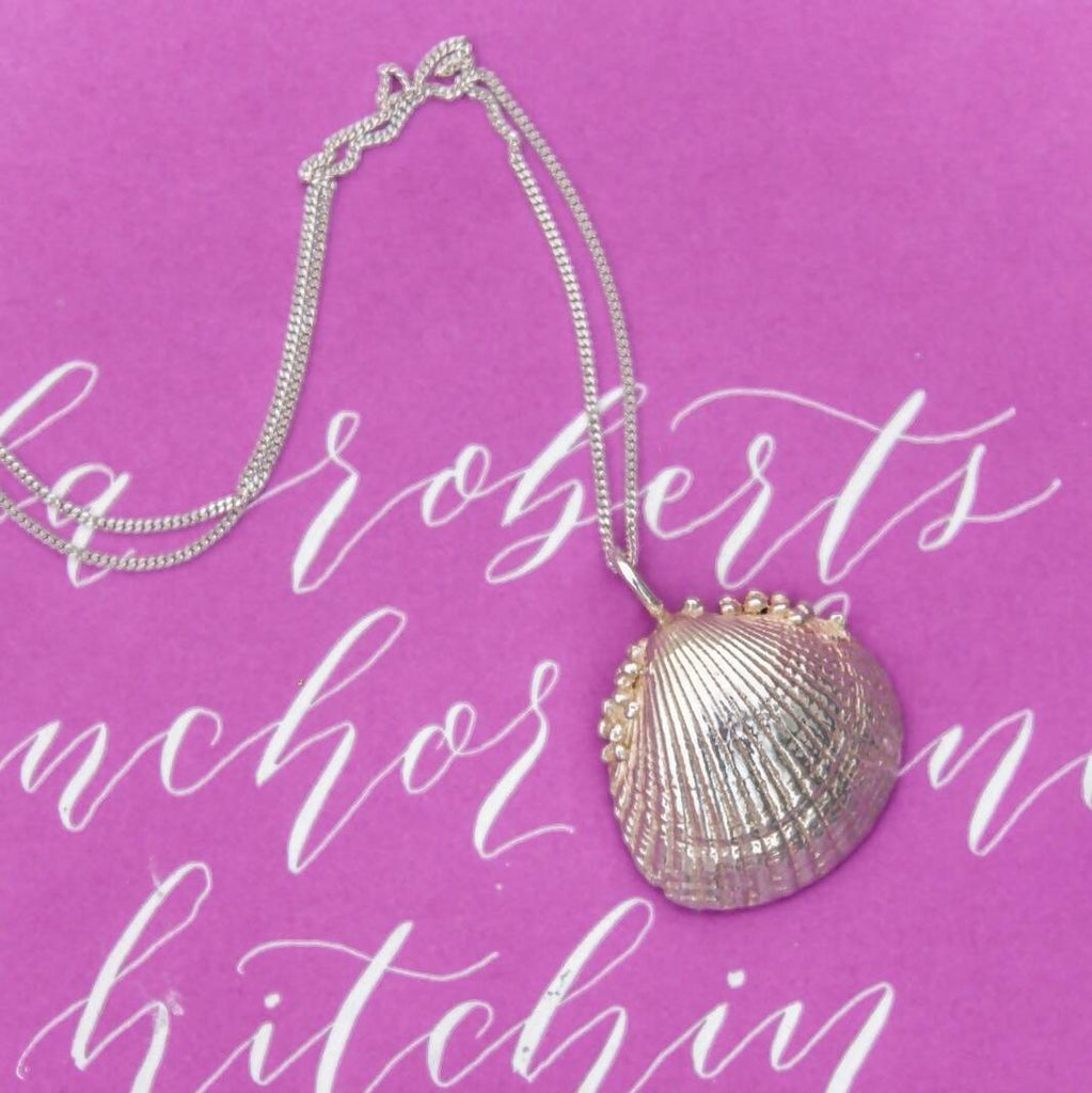 Cornish Seashell Pendant (Large)