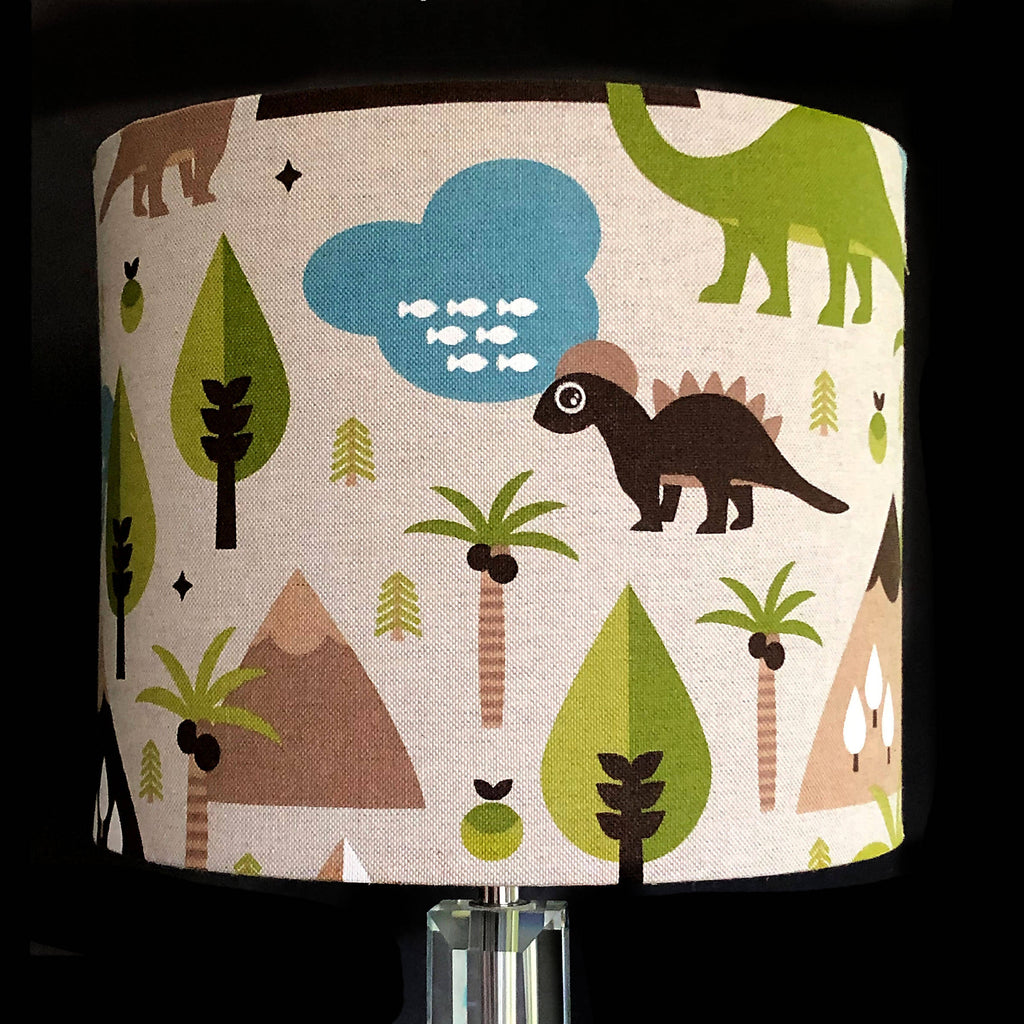 Japanese Lady Fabric 25cm Drum Lampshade