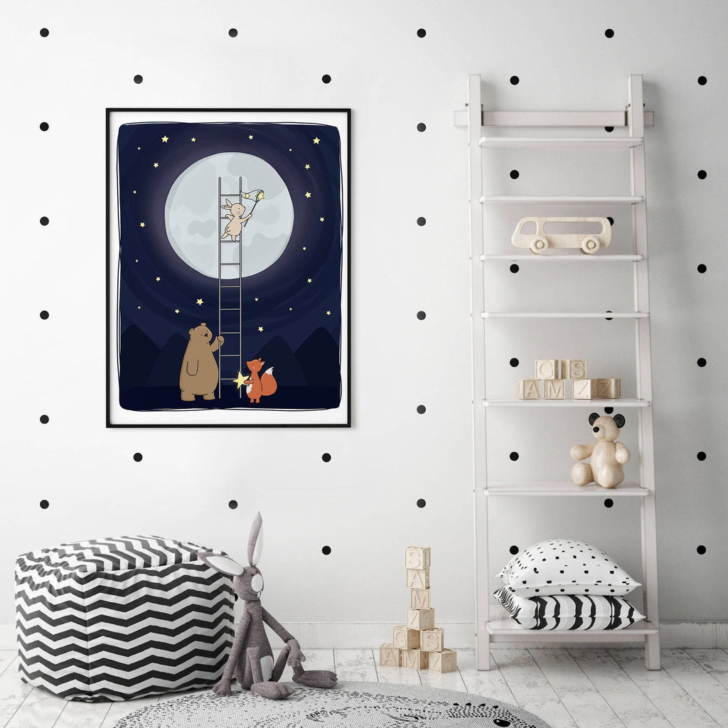 Catching Stars Woodland Animal Print