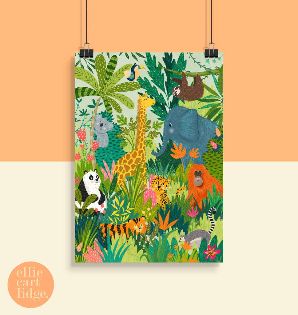 Jungle Pals Animal Print