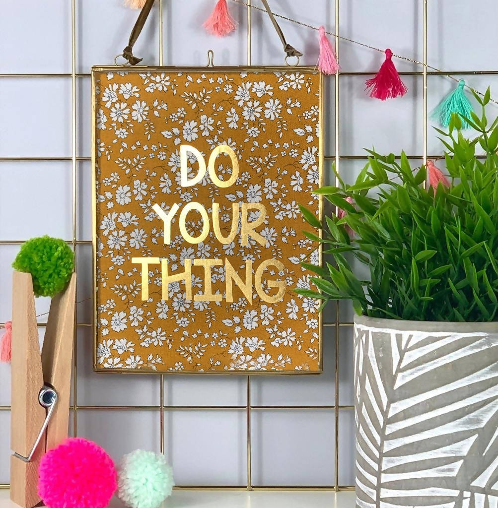 Liberty Print Do Your Thing Gold Foil