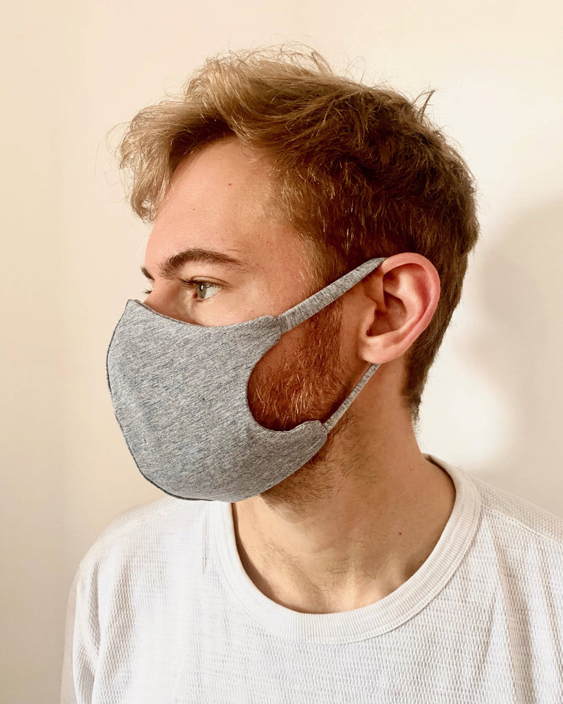 Bamboo and organic cotton fitted face mask