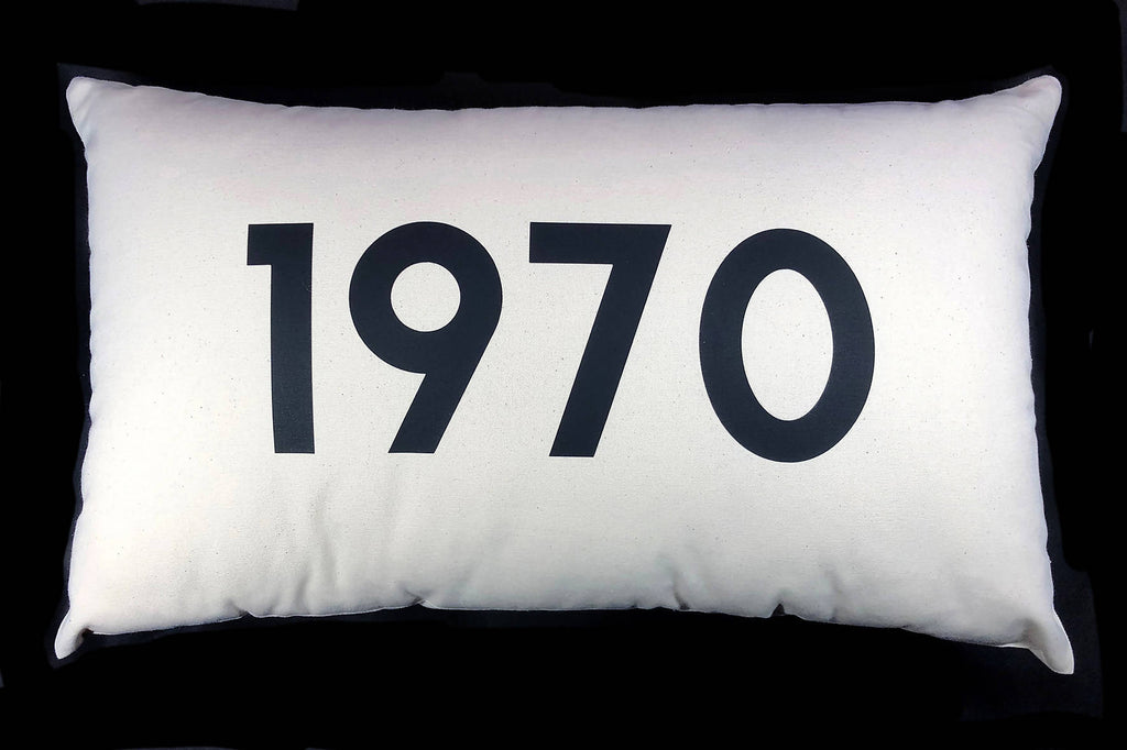 Personalised Year Cushion - 50x30cm Cotton Cushion Personalised With Your Choice of Year