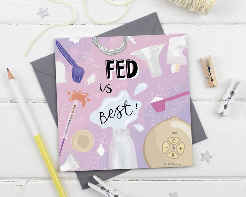 Fed is Best - Breastfeeding Journey Baby Greeting Card