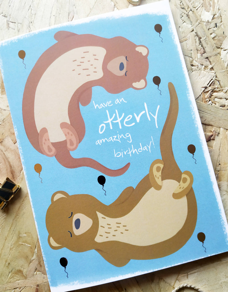 Otter Pun Birthday Card - Otterly Amazing Card