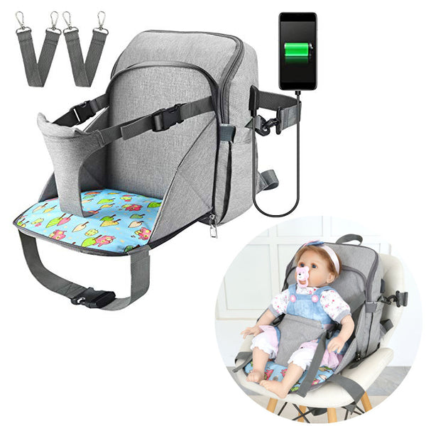 (Buy 2 Free Shipping)2 in 1 Baby Diaper and Seat Backpack