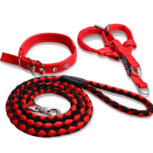Thickened nylon three-piece traction rope