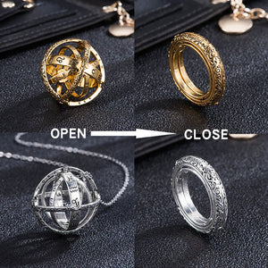 (Buy 3 Free Shipping)Astronomical Ball Ring-Closing is love,Opening is the world